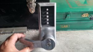 Commercial Locksmith installs new entry system